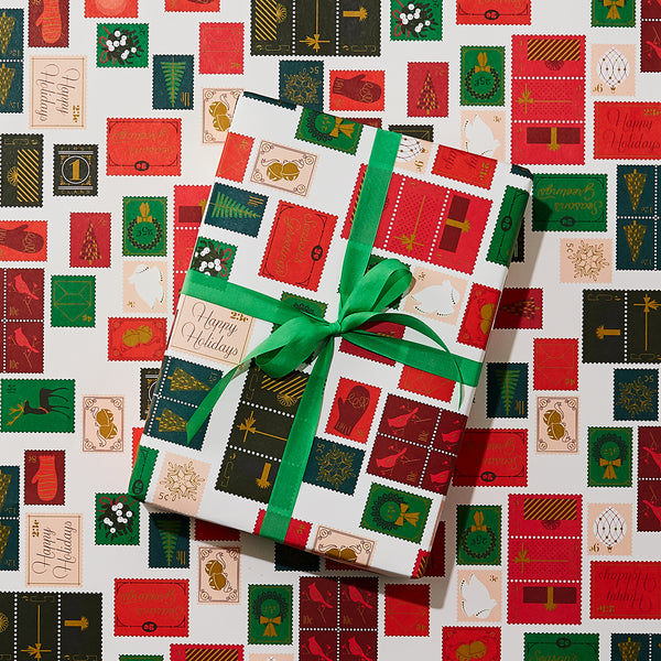 Holiday Stamps Wrap
