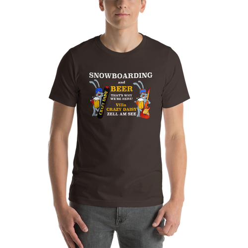 Snowboarding and Beer, Unisex T-Shirt