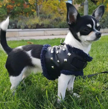 Rock Star Black Leather Harness