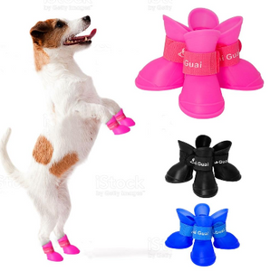 Pet Anti Slip Waterproof Rain Rubber Boots