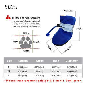Reflective Anti-Slip Water Resistant Dog Boots, 4 count