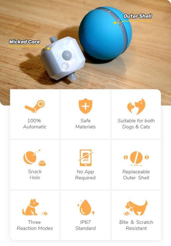 Cheerble™ Wicked Ball - Smart Interactive Pet Ball