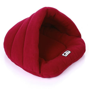 Cozy Super-Soft Fleece Cave Bed