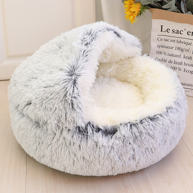 Hooded - Ultra Soft Plush Pet Bed