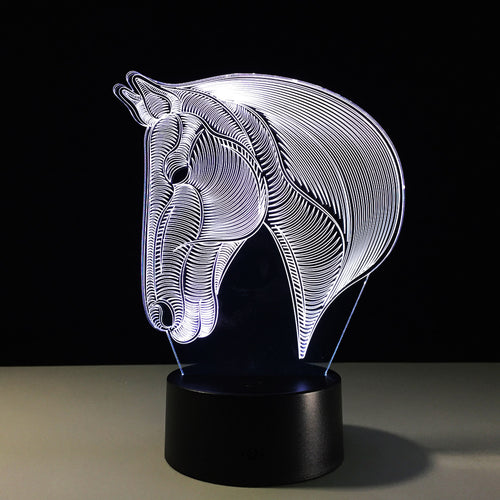 Horse's Head LED Night Lights