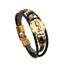 Load image into Gallery viewer, Twelve Constellation Cowhide Bracelet - TheRightBuy4Women.com