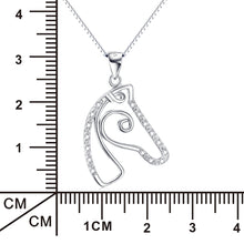 Load image into Gallery viewer, Elegant Sterling Silver Horse Head Pendant Necklace - TheRightBuy4Women.com