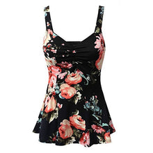 Load image into Gallery viewer, Plus Size Ladies One Piece Skirted Swimsuit S, M, L, XL, 2XL, 3XL, 4XL & 5XL - TheRightBuy4Women.com