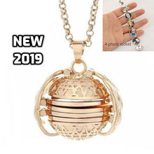 Load image into Gallery viewer, Folded Wings Expanding Photo Locket Necklace - TheRightBuy4Women.com