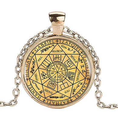 Seven Stamps Of The Archangels Pendant w Long Chain - TheRightBuy4Women.com