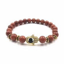 Load image into Gallery viewer, Palm Bracelet Lava Stone Bead Bracelets - TheRightBuy4Women.com