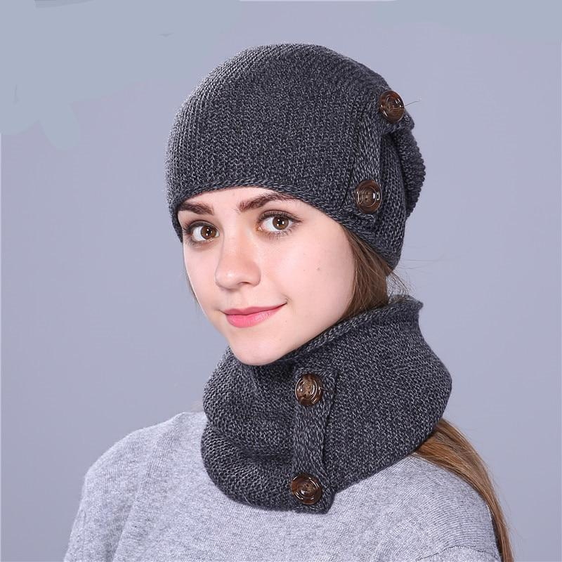 Fashion Winter Hat For Women and Men. Knitted Hat Beanie With Hat Scarf. - TheRightBuy4Women.com
