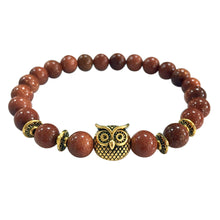 Load image into Gallery viewer, Owl Bracelet Gold Bracelet Lava Stone Bead Bracelets - TheRightBuy4Women.com