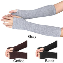 Load image into Gallery viewer, Women's Gloves Winter Wrist Arm Hand Warmer Knitted Long Fingerless Gloves/Mitten in Coffee, Gray or Black - TheRightBuy4Women.com