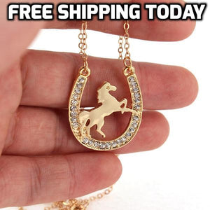 Matching Horseshoe Necklace To Wear With the Horseshoe Bracelet - TheRightBuy4Women.com