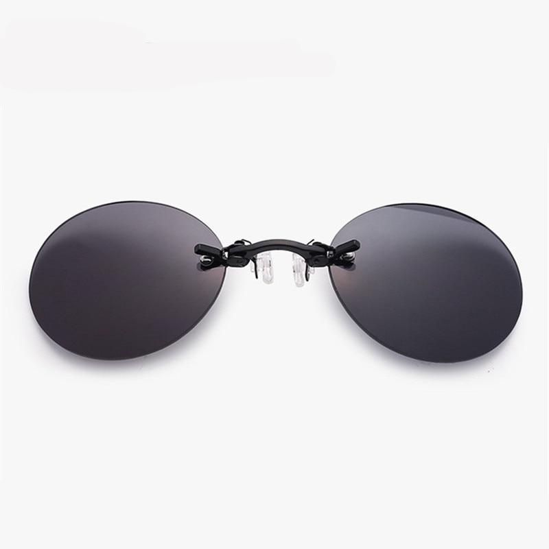 FREE SHIPPING TODAY ! Morpheus Rimless Vintage Round Clip On Nose Sunglasses w UV400 - - TheRightBuy4Women.com