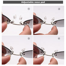 Load image into Gallery viewer, FREE SHIPPING TODAY ! Morpheus Rimless Vintage Round Clip On Nose Sunglasses w UV400 - - TheRightBuy4Women.com