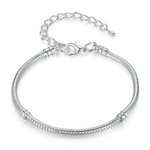BEAUTIFUL SILVER PLATED CHARM BRACELET - TheRightBuy4Women.com