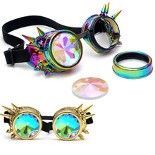 Load image into Gallery viewer, Kaleidoscope Colorful Glasses Festival Party EDM Sunglasses Diffracted Lens