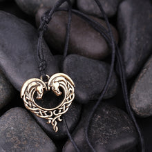 Load image into Gallery viewer, Celtics Horse Lords Necklace - Antique Silver or Bronze Horse Heart - TheRightBuy4Women.com