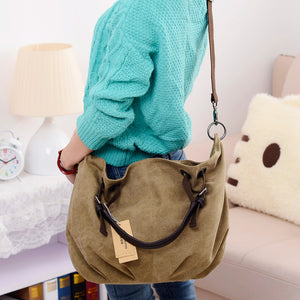 "Canvas Cross-body ""Messenger"" Bags With Large Capacity - TheRightBuy4Women.com"