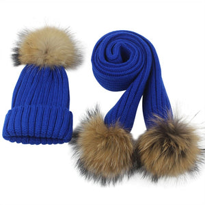 Warm Woolen & Cashmere Crochet Hat & Scarf For Girls & Boys - TheRightBuy4Women.com