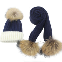 Load image into Gallery viewer, Warm Woolen & Cashmere Crochet Hat & Scarf For Girls & Boys - TheRightBuy4Women.com
