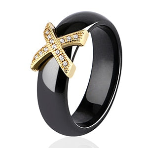 Formal Ceramic Ring w Rhinestones - TheRightBuy4Women.com