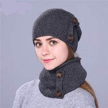 Load image into Gallery viewer, Fashion Winter Hat For Women and Men. Knitted Hat Beanie With Hat Scarf. - TheRightBuy4Women.com