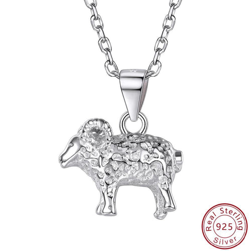 925 Sterling Silver Cute Sheep Goat Pendant Necklaces - TheRightBuy4Women.com
