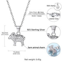 Load image into Gallery viewer, 925 Sterling Silver Cute Sheep Goat Pendant Necklaces - TheRightBuy4Women.com