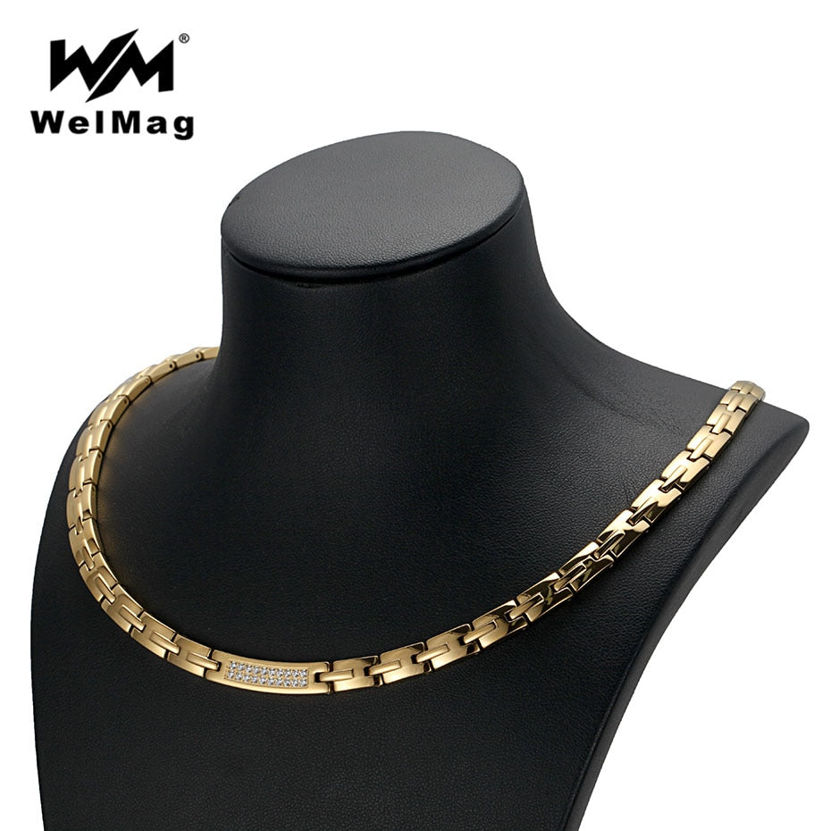 Necklaces, Crystal Hematite Magnetic Necklace for Women and Men - TheRightBuy4Women.com