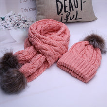 Load image into Gallery viewer, Warm Crochet Hats And Scarves With Beanie Hat for Boys And Girls - TheRightBuy4Women.com