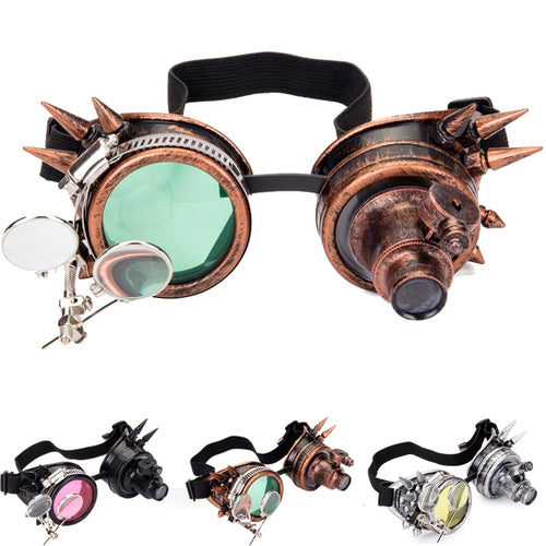Vintage Victorian Rivet Steampunk Gothic Cyber Welding Goggles - TheRightBuy4Women.com