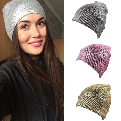 Warm Ear Protection Crocheted & Glittering Knit Caps for Winter - TheRightBuy4Women.com