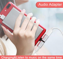 Load image into Gallery viewer, Two-in-One Dual Ports Headphone and Charging Adapter for IPhones - TheRightBuy4Women.com