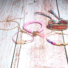 Load image into Gallery viewer, MOON GIRL SET of 6 Summer Handmade Bohemian Hawaiian Charm & Weave Bracelets - TheRightBuy4Women.com