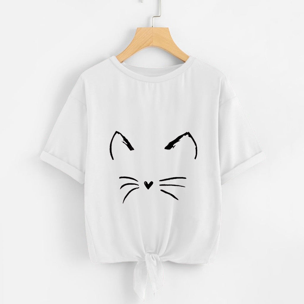 Mad Cat Tie Bottom Tee for Rockin' Women - TheRightBuy4Women.com