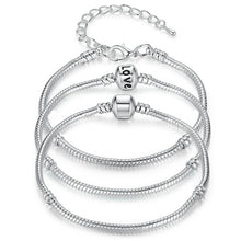 Load image into Gallery viewer, BEAUTIFUL SILVER PLATED CHARM BRACELET - TheRightBuy4Women.com
