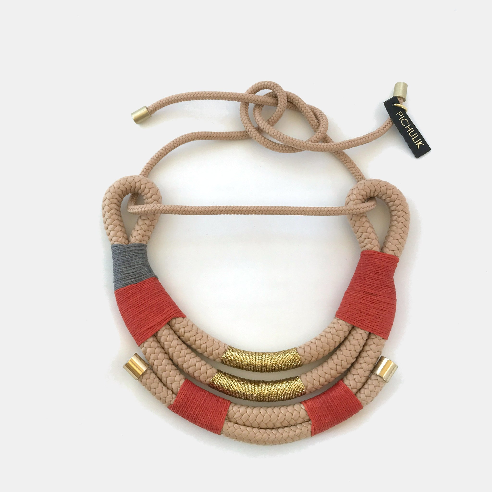 Beige & Winter Mali Necklace