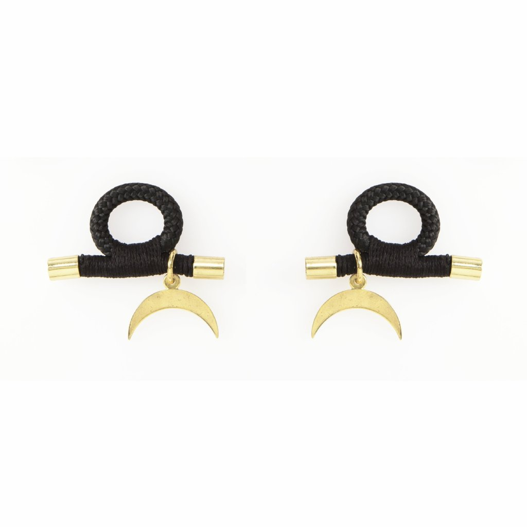 Lunar Earrings (2 x Gold Hoops Incl.)