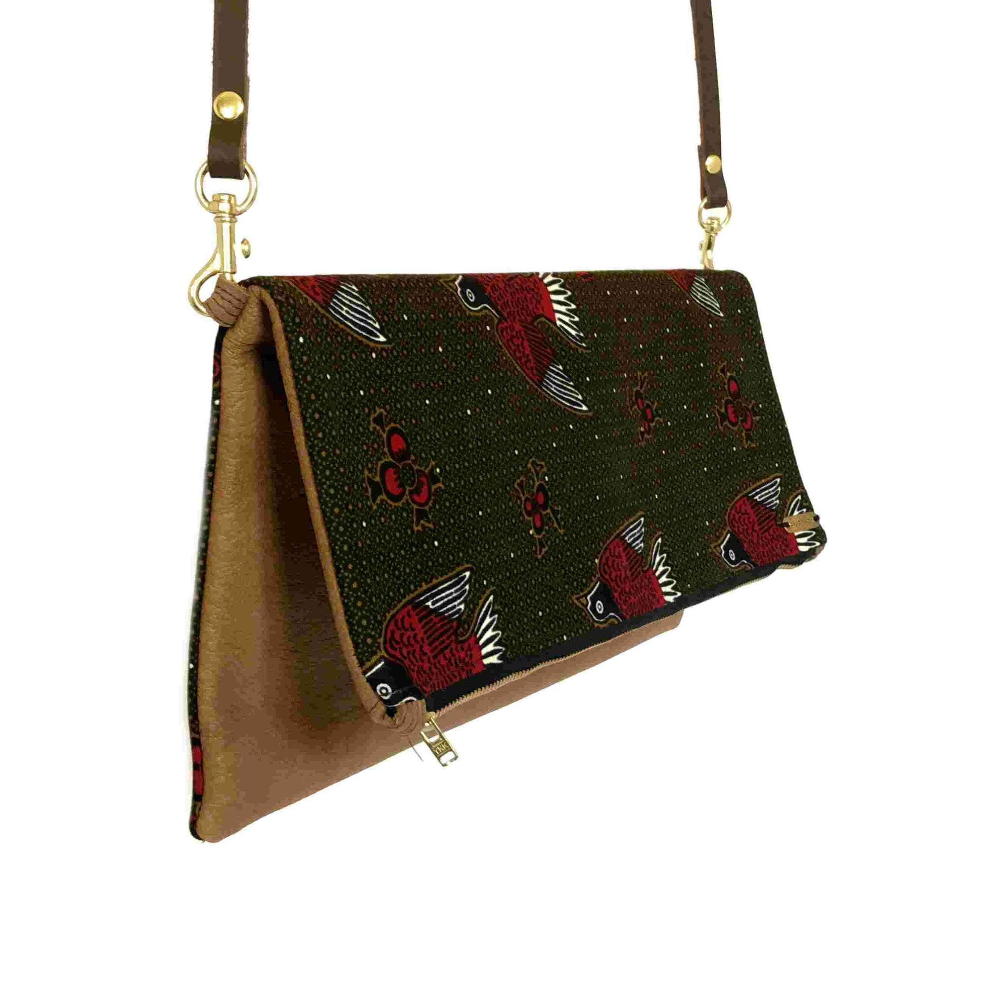 African Wax Print Clutch (Medium)
