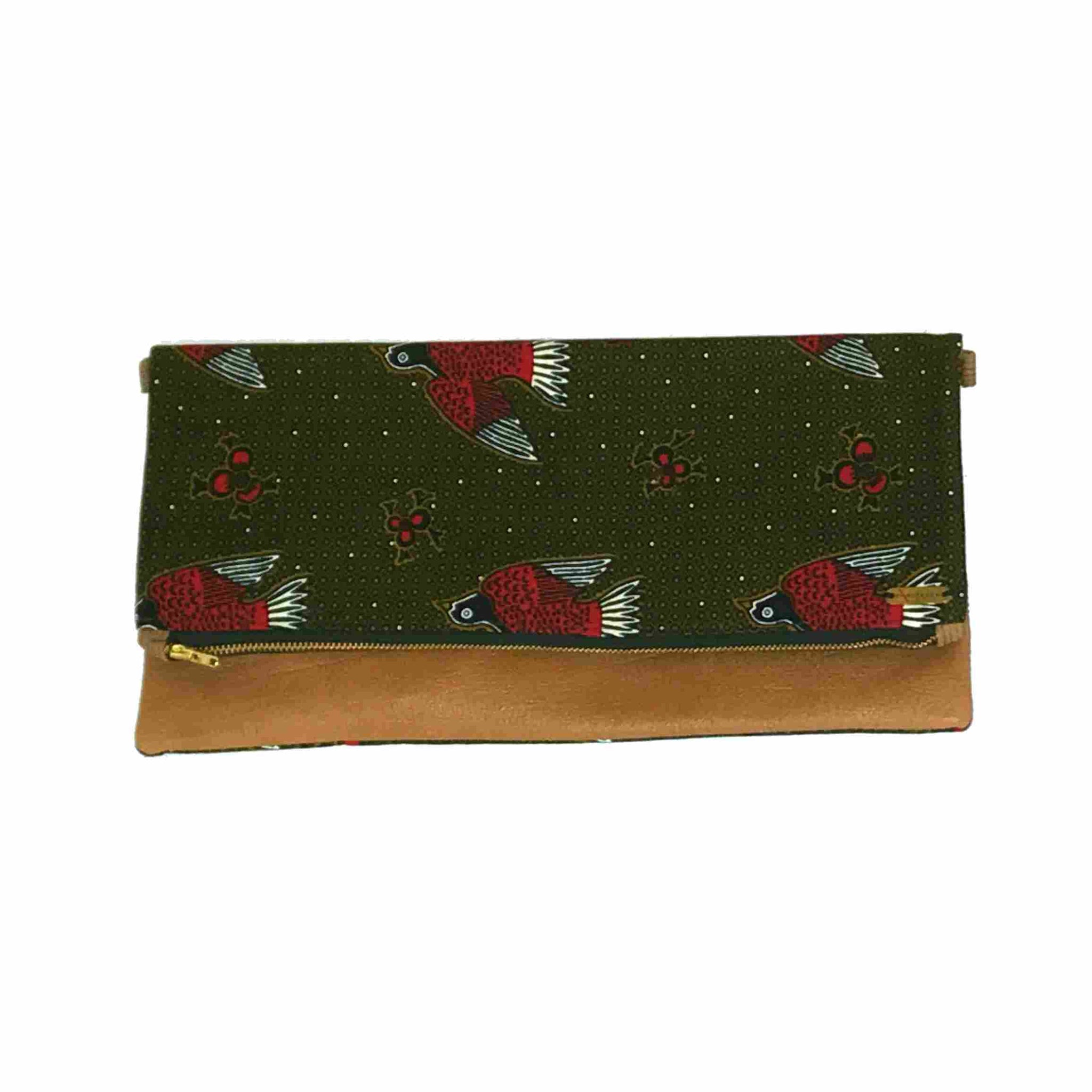 African Wax Print Clutch (Large)