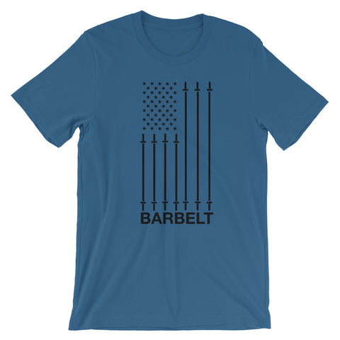 Barbell Flag - Short-Sleeve Unisex T-Shirt