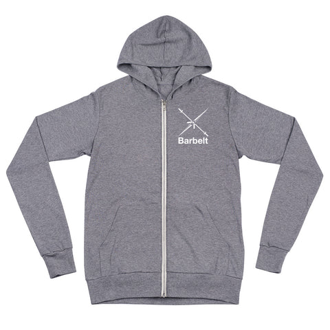 Barbelt Unisex Zip Hoodie (Available in 2 Colors)