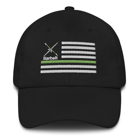 Thin Green Line Barbelt - Dad hat