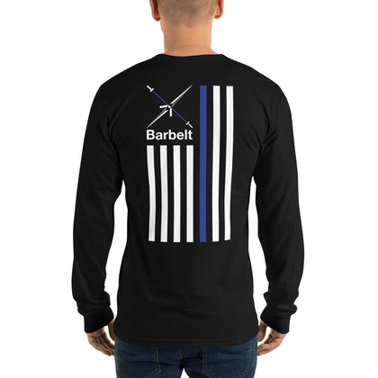 Thin Blue Line Barbelt - Long sleeve t-shirt