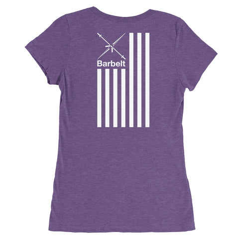 Barbelt Flag - Ladies' short sleeve t-shirt