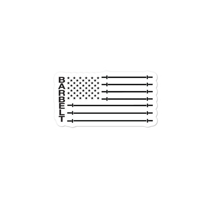 Barbell Flag Sticker