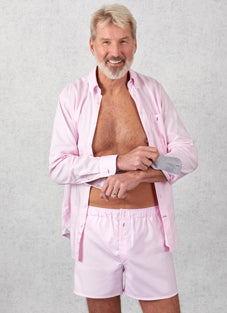 Tom Clinch | Pink Shirt and Boxers